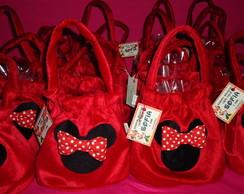 Bolsinha de pel�cia da Minnie