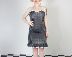 Vestido Pin-Up Babado de Hollywood