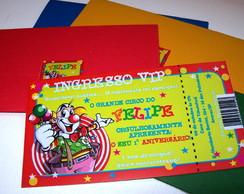 Convite Ingresso Circo