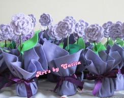 Enfeite flores em croch� - 20% off