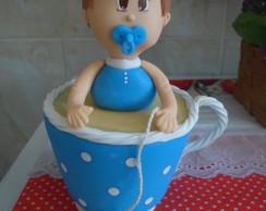 Topo De Bolo Ch� De Beb� Biscuit
