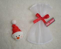 Boneco de Neve  em Saquinho de Organza