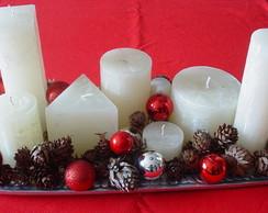 Sete velas variadas (sem pinhas  e bolas
