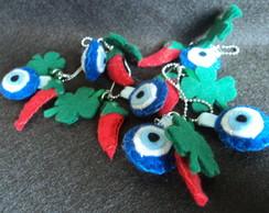 Chaveiro Amuletos da Sorte