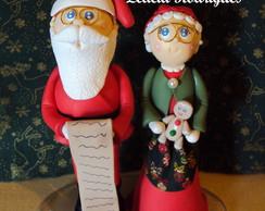 Papai e Mam�e Noel de biscuit