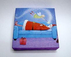 "Mini painel ""Desperta Papai Noel"""