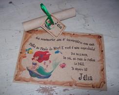 Convite Ariel Pergaminho