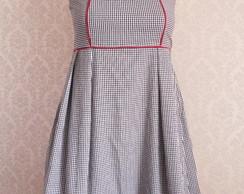 Vestido Pin Up Xadrez Gg (encomenda)