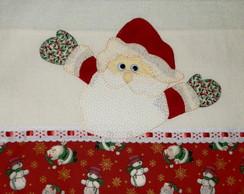 Pano de copa com Papai Noel em Patchwork