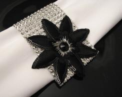 Porta - guardanapo grega prata e flor