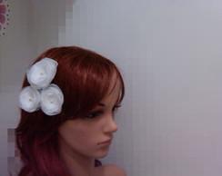 Trio de flores para penteado noiva