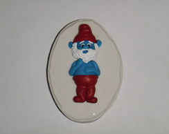 Molde de silicone do Papai Smurf