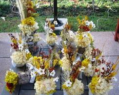 Conjunto flores secas para festas V