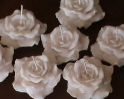 Vela Flutuante,rosas.Pacote com 20 uni.