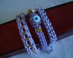 Conjunto de pulseiras lil�s