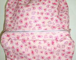Mochila lona brilho oncinha rosa