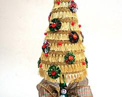 Arvore De Natal Feita Com Tecido E Fita