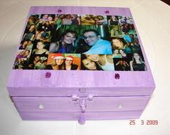 Caixa de biju com fotos