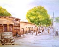 Cidade do interior - ( aquarela )