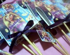 Capa de pirulito Rapunzel,Moranguinho...