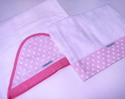 Conjunto 1 toalha e 1 toalha fralda