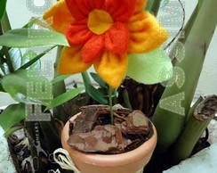 Vaso de flor de Feltro