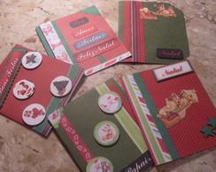 Cart�es de Natal em Scrapbook