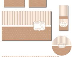 R�tulos e envelopes Kit Toilet masculino
