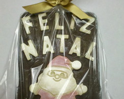 Placa De Chocolate - Feliz Natal