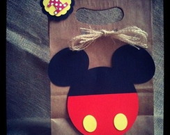 Sacolinha craft papel reciclado Mickey