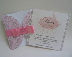 Convite 15 Anos Envelope Impres Quadrado