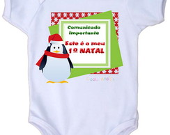 Body Beb� - Meu 1�natal pinguin