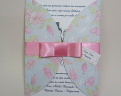 Convite Casamento Envelope Impres Floral