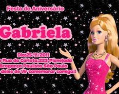 Convite Barbie