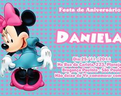 Convite Minnie Mouse