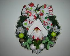 Guirlanda Verde e Branco com Papai Noel
