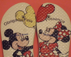 Chinelos personalizados Mickey y Minnie