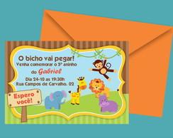 Convite Safari Menino