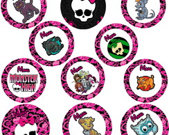 Toppers para docinho Monster High.