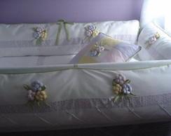 kit ber�o menina flores 7 pe�as KTF-012