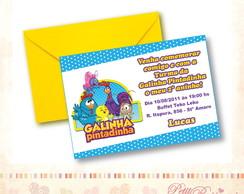 Convite Turma Galinha Pintadinha - Azul