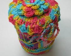 Vidros com capa de croch�