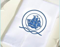 Guardanapo tecido bordadoNautico30x30cm