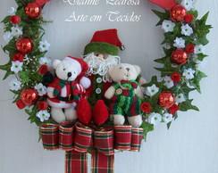 Guirlanda com Papai Noel e Ursinhos