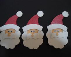 Aplique Papai Noel - 6 unidades