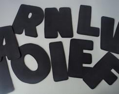 Letras simples feitas de E.V.A.
