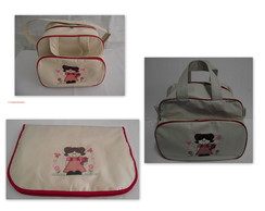 Kit Bolsa Poa Bege 3 PE�AS