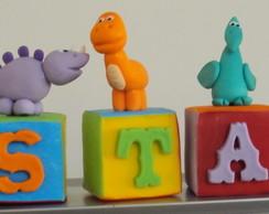 Lindos Cubos -  Dinossauros Em Biscuit!