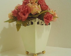 Mini Vaso- Rosas e Bot�es.