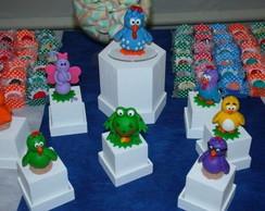 galinha pintadinha personagens em biscuit